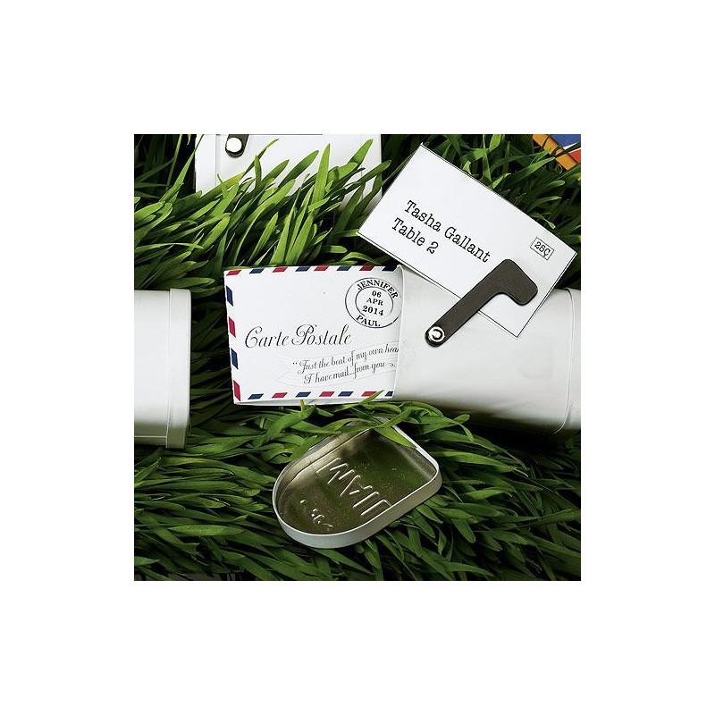Carte postale miniature personnalisée pour contenant à dragées